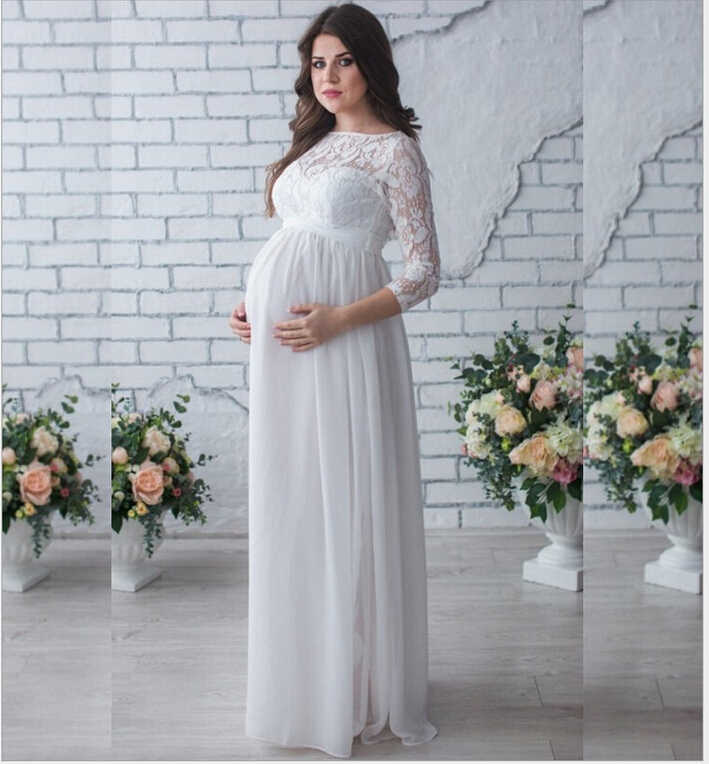 f10568637ebd5 ... Elegant Maternity Clothes Evening Dress Gravida Maternity Lace Dresses  Pregnancy Pregnant Maxi Dress Mama Gown Large ...