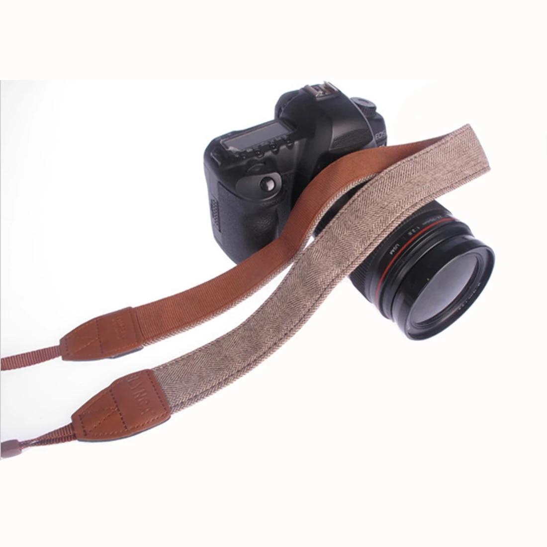 Correa de Cuello Cámara Tela de Algodón de cuero correa de hombro cuello ajustable