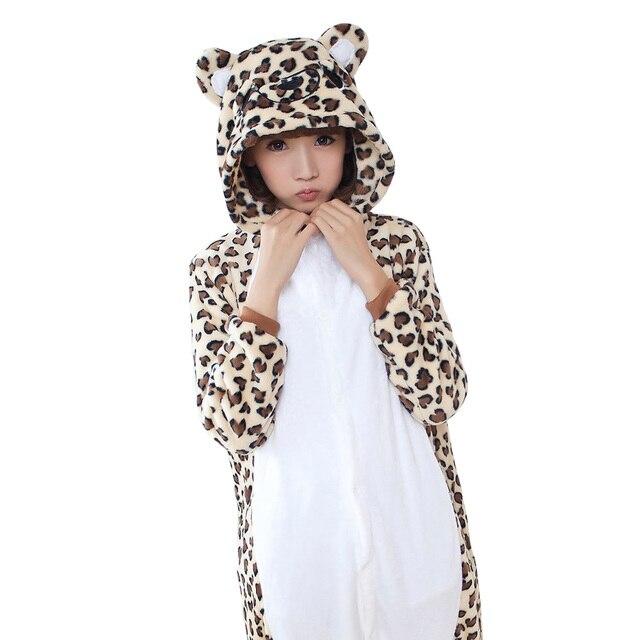 ropa pies de gris oso conejo pijamas leopardo mujeres encapuchados romper hombres Estampado adulto onesie señoras BFaxqF6w