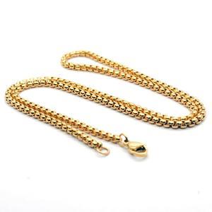 MxGxFam 50 60 70 cm x 3 mm Titanium steel Hiphop Gold Color Long Chain Necklaces for Men Fashion Jewlery No Fade