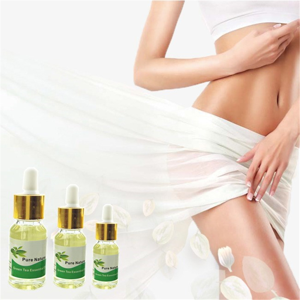 Wholesale 5/10/15ml Green Tea Effective Weight Loss Essential oil Fast Lose Weight Essential oil Body Slimming for Burning fat