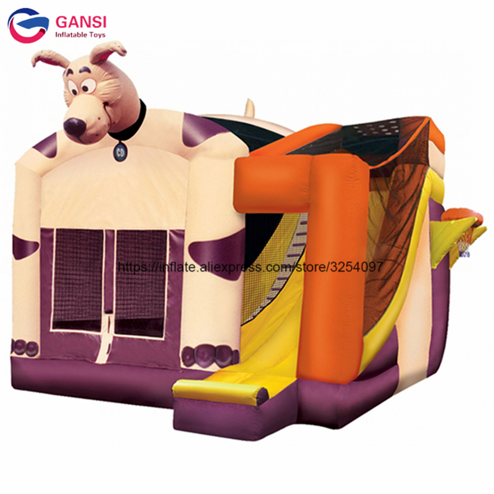 Funny animal design inflatable bouncer house customized color outdoor, indoor inflatable bouncy castle with water slide for kids цена