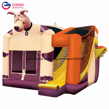 Funny animal design inflatable bouncer house customized color outdoor, indoor inflatable bouncy castle with water slide for kids tarpaulin inflatable bouncy castle bouncer for children party indoor