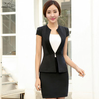 New Summer OL Women Business Suits Formal Office Work Pants Suits Plus Size Jacket And Trousers