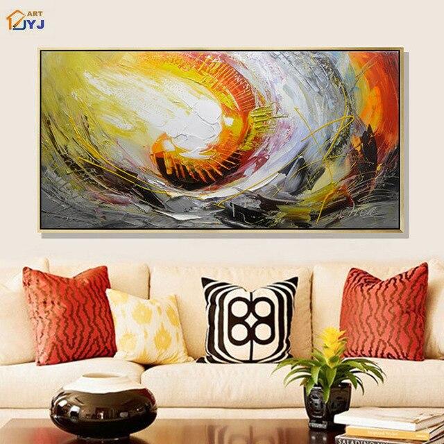 warme farben malerei, jyj warme farbe spachtel handgemaltes modernes abstraktes Öl malerei, Innenarchitektur