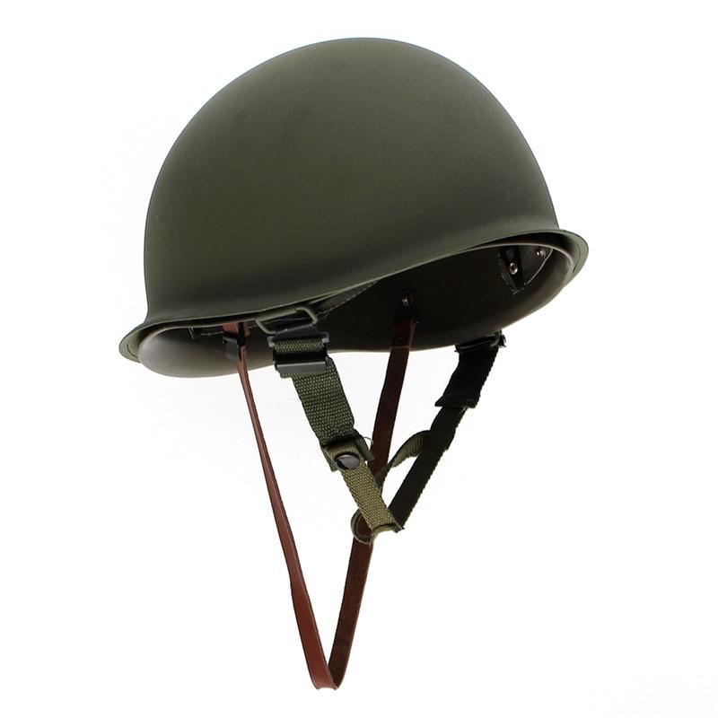 Prix pour Universel Portable Militaire Acier M1 Casque Tactique De Protection Équipement de L'armée Domaine Vert Casque en plein air voyage kits
