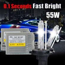 0.1second Fast Bright F5 55w HID xenon KIT H3 4300k 5000K 6000K 8000K 55W XENON H3