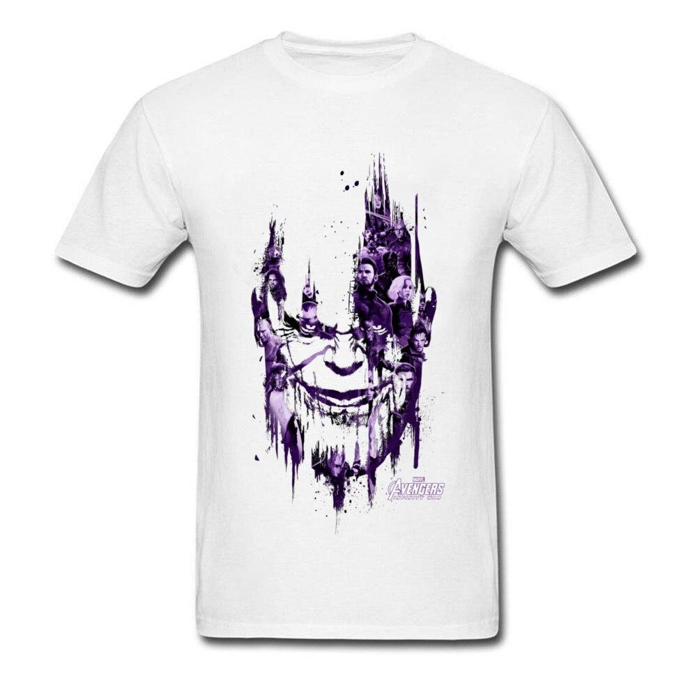 Thanos Smirk T Shirt 2018 Avenge T-shirt Men White Clothing Cotton Tops Rebel Monster Tee Slim Fit TShirt Thor