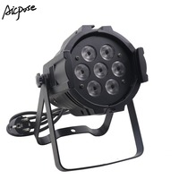 Mini aluminum Led Par 7x10W Par Light RGBW 4in1 DMX Control Lights 4/8 channels Use For Bar Disco Stage Light