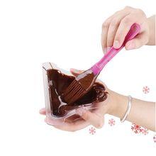 6PCS Cute Plastic Cake Mold Shaped Chocolate Handmade And 4 Cavities PP DIY Ice Cream Popsicle