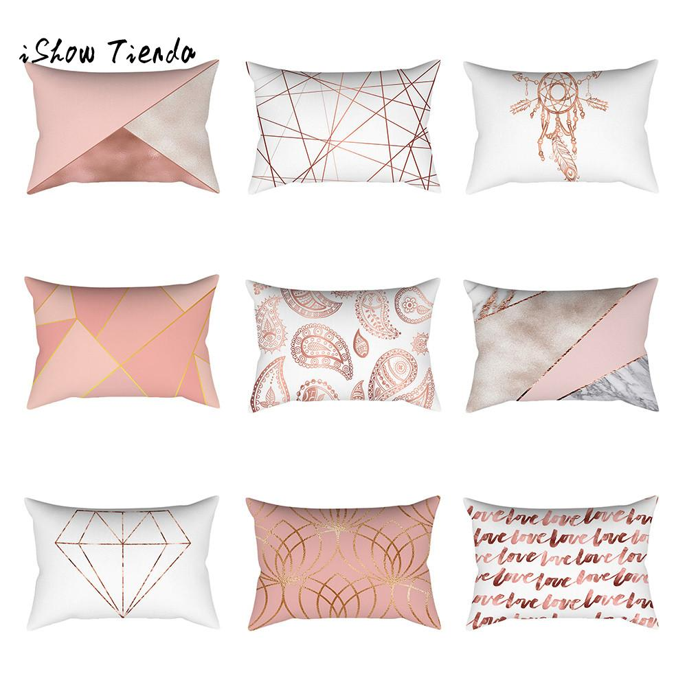 1PC Rose Gold Decorative 30x50cm Cushion Cover Pillow Case for Sofa Bedroom Car