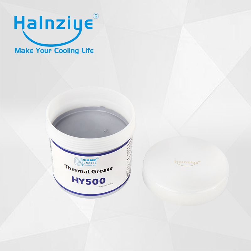 Gray silicone thermal transfer grease/compound/paste HY510 Jar with 1000g 5pcs lot super performance gold thermal grease paste heatsink compound 30g hy610 for cpu gpu