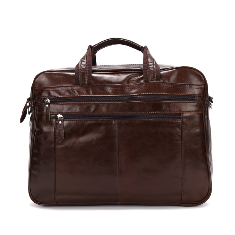 Nesitu Vintage Large Coffee Genuine Leather Men Briefcase Business Travel Messenger Bags 14 15.6 Laptop Portfolio M1017Nesitu Vintage Large Coffee Genuine Leather Men Briefcase Business Travel Messenger Bags 14 15.6 Laptop Portfolio M1017