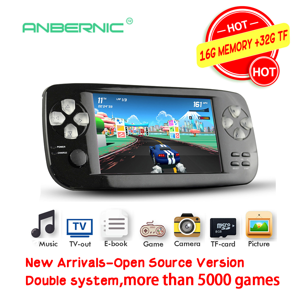 Double System Portable Handheld Game Console 64Bit Flash Open Source De Video Juego Video Game Console PAP KIII Children Gift 07