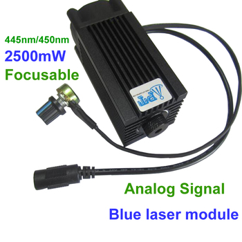 DIY CNC 2500mw/2.5w 450nm Focusable blue Laser Module diode laser cutting Engraving carving Machine Adjust  Power Analog signal