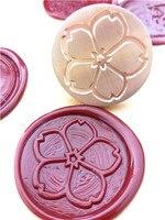 Sakura Flower Wax Seal Stamp Cherry Blossom Sealing Stamp Set Gifts Sealing Wax Box Set