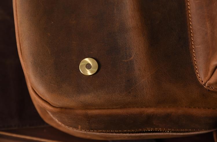 Marca designer de couro genuíno dos homens