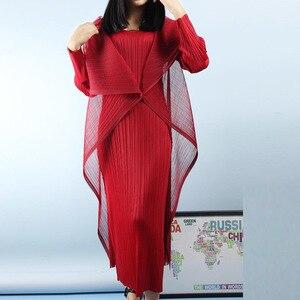 Image 1 - LANMREM 2020 nouveau automne début femmes plissé vintage plissé elatic manches complètes col pull deux pièces WH68203