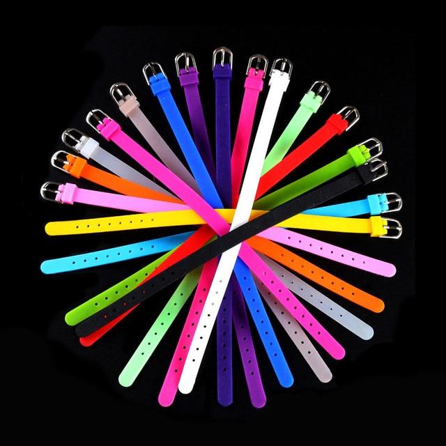 Fashion Silicone Bands Bracelets Wristband Women DIY Rubber Wristband Watchbands