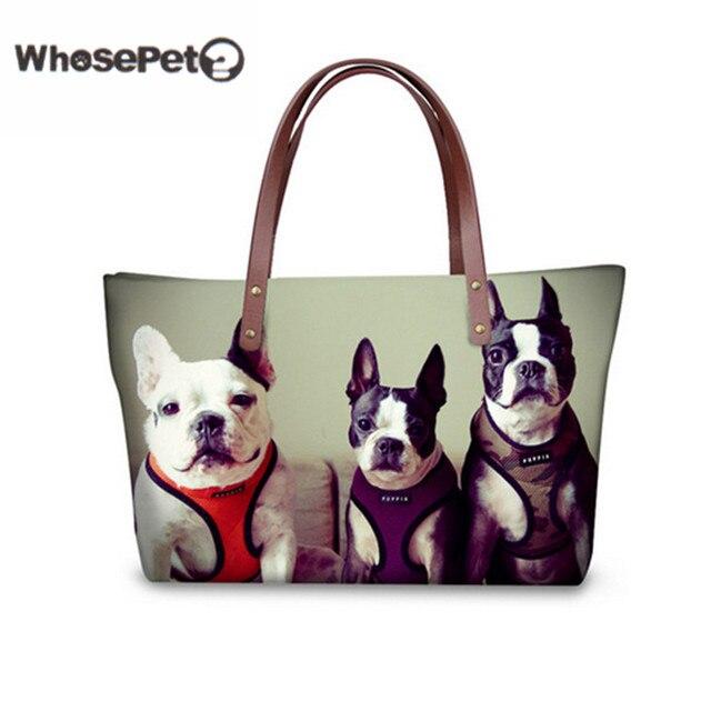 b809be8727 Wholesale French Bulldog Women Shoulder Bag Fashion Bag for Girls Ladies  Female Tote Satchel Large Handbags Mujer Bolsa WHOSEPET
