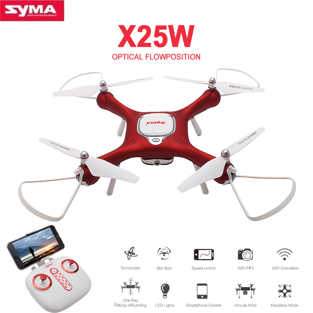купить Syma X25W Optical Flow RC Drone with WiFi FPV Adjustable 720P Camera Positioning Altitude Hold Quadcopter RC Toys RC Helicopter по цене 5694.79 рублей