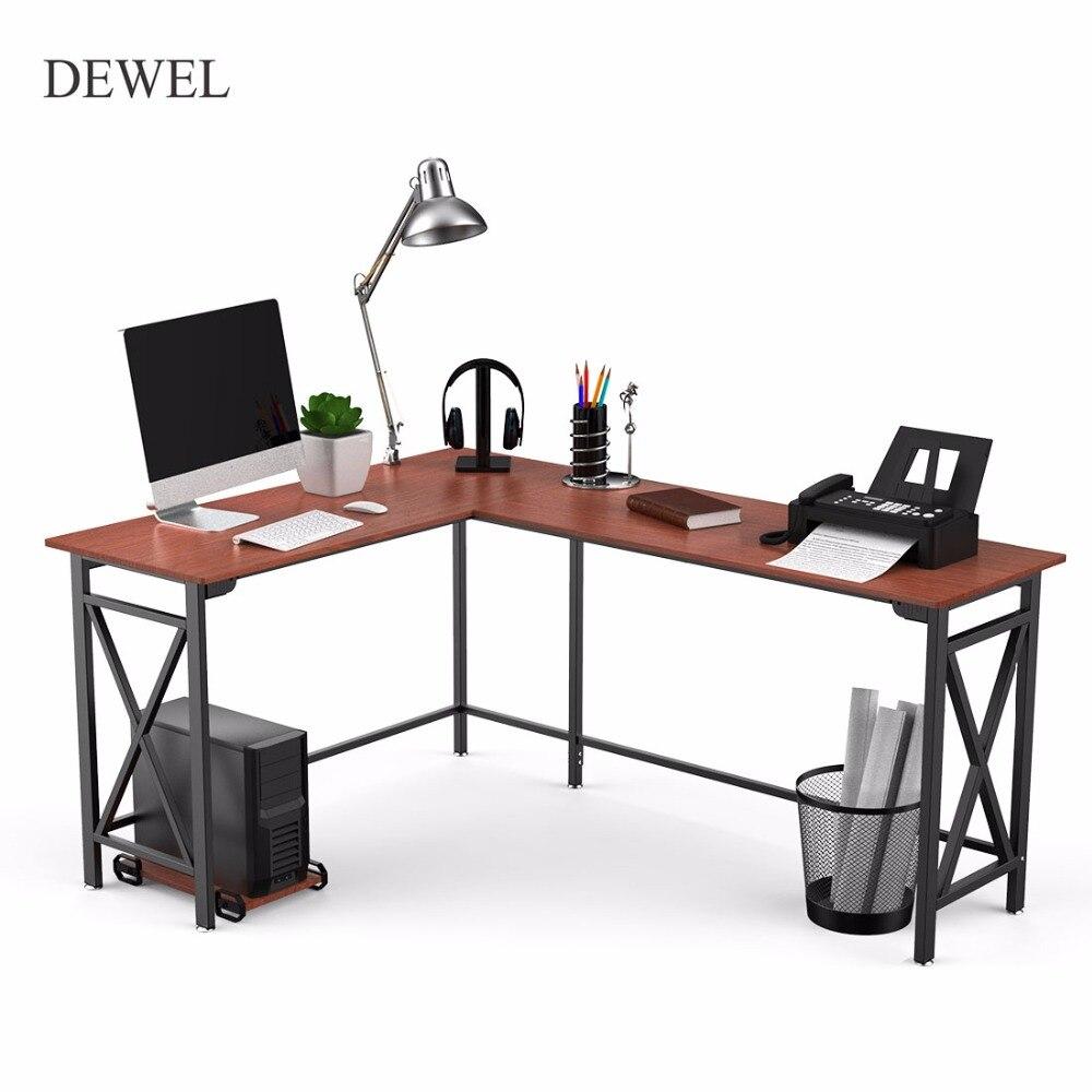 Bureau d'ordinateur en forme de L 67 ''x 51'' bureaux d'ordinateur d'angle 3 pièces table d'ordinateur portable bureau à domicile poste de travail bureau avec Mainframe