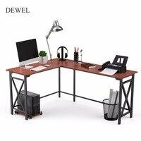 L образный компьютерный стол 67 ''x 51'' угловые компьютерные столы 3 Piece угловой ноутбук стол домашний офисный Рабочий стол с мейнфреймом