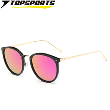 TOPSPORTS Polarized Women colorful Sunglasses Metal PC  Frame TAC Mirror Lenses Lightweight Glasses single beam UV400 protection