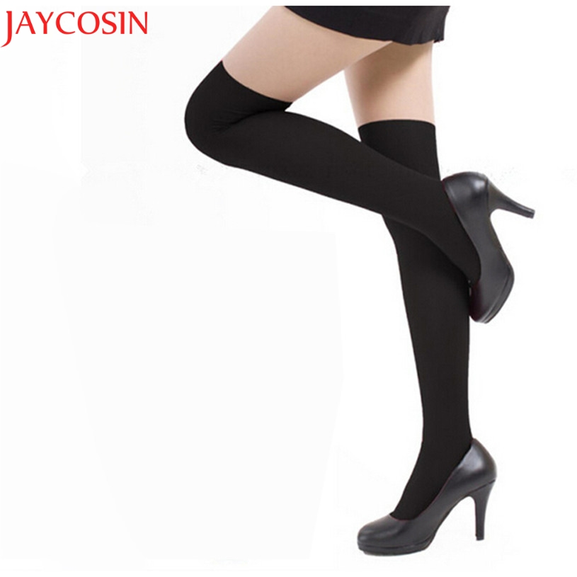 JAYCOSIN Women Sexy Lady Black Lace Pantyhose Stocking Hosiery Exotic Stay Up Thigh High Stockings Pantyhose Hot 9.5