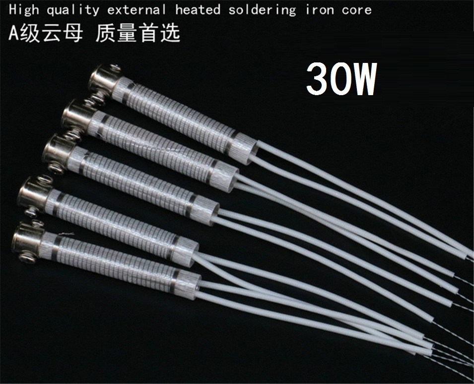 10pcs High Quality 220V 30W Soldering Iron Core Heating Element Replacement Spare Part Welding Tool Electric iron core