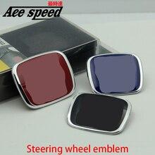 Ace скорости, Пригодный для Honda руль знак автомобиля эмблема красный эмблема стайлинга Автомобилей для honda civic fit jazz Цвет Красный Черный синий