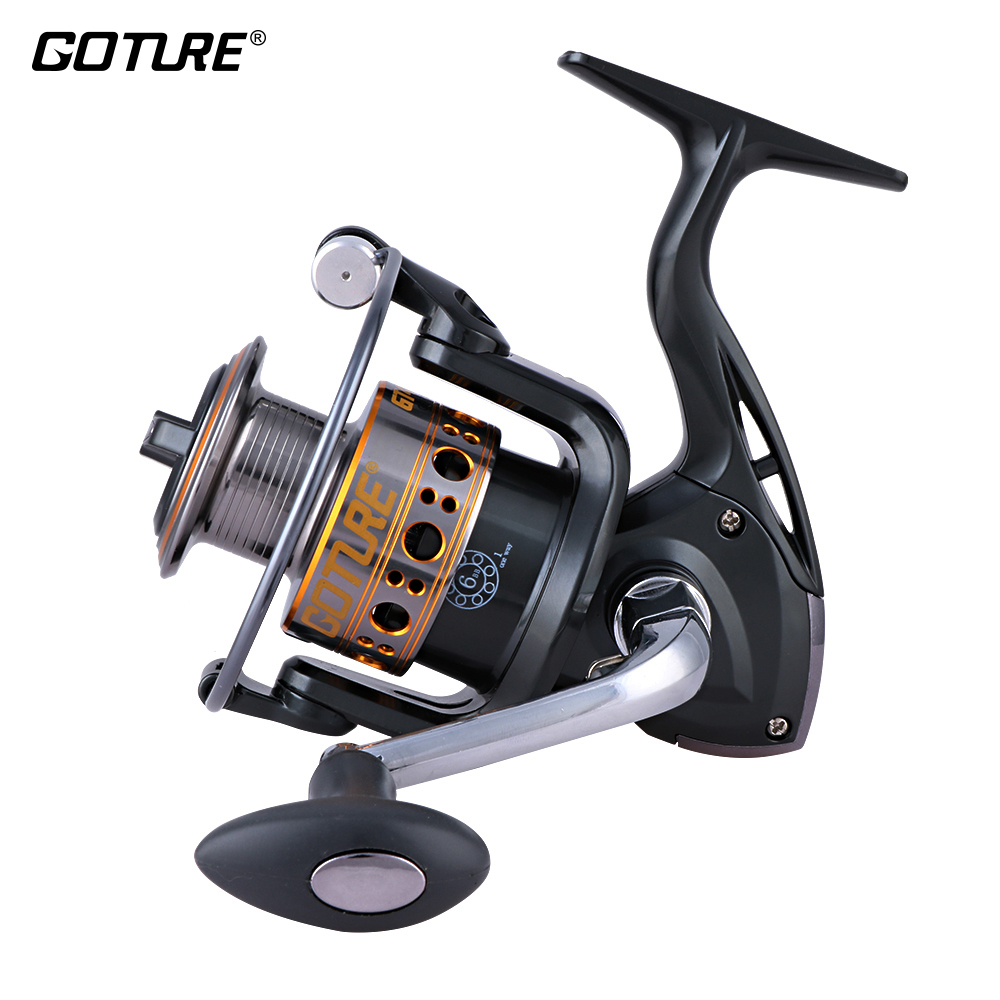 Goture Fishing Reels Spinning GTV/GTS 500/1000/2000/3000/4000/5000/6000/7000 7BB Metal Spool Interchangeable Fishing Wheel Coil seashark salt water spinning fishing reel 1000 2000 3000 4000 5000 6000 7000 spinning wheel max drag force 12 5kg copper gear