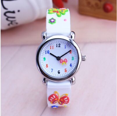 Children silicone watch Brand Quartz Wrist Watch Baby For Girls Boys Waterproof Kid Watches butterfly Fashion Casual Reloj цена
