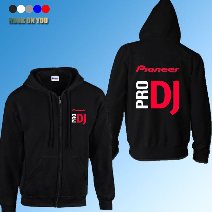 2016 autumn winter fashion pioneer cardigan hoodies thickening professional DJ Pro Pioneer casual sweatshirt zipper jacket