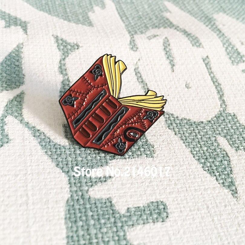 20 stücke Benutzerdefinierte Meme Broschen Hocus Pocus Zauber Buch Emaille Pins und Abzeichen Halloween Revers Pin 90er Nostalgie Handwerk geschenk