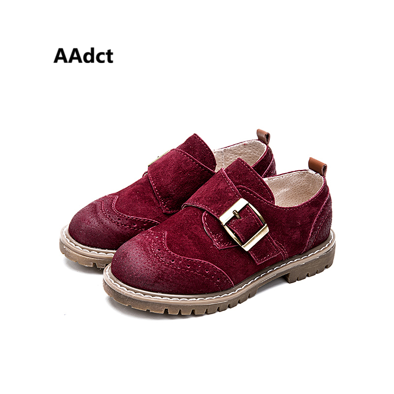 AAdct British style kids shoes for Fashionable pigkin leather shoes Comfortable Breathable boys shoes