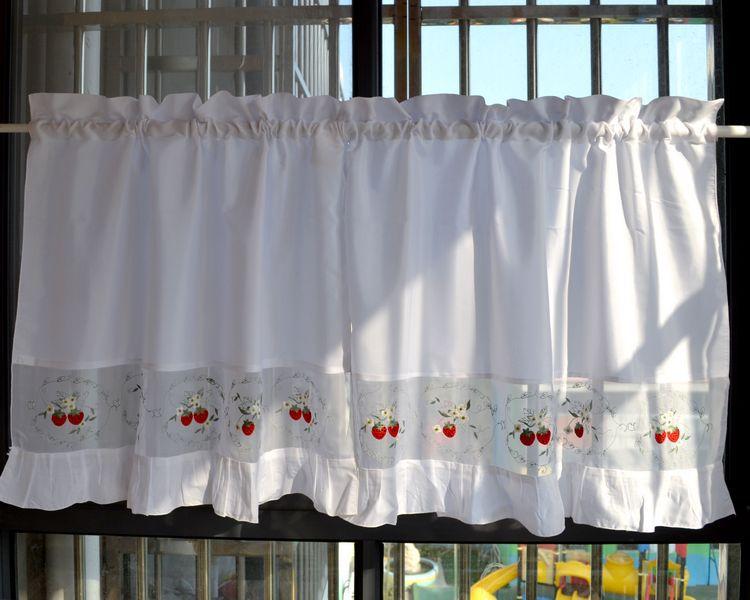 Popular strawberry kitchen curtains buy cheap strawberry - Modelos de cortinas para cocinas ...