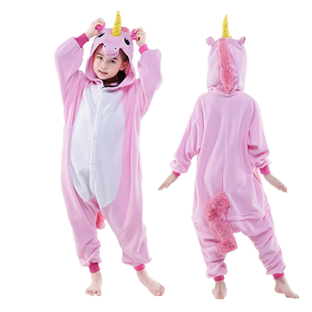 Children Unisex Unicorn Onesie Animal Pajamas Boys Girls Halloween Costumes Kids Xmas Gift
