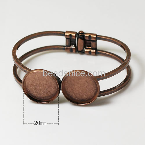 Bracelet Cabochon Jewelry Findings and Components Nickel-Free, Lead-Safe, 20mm, sold by 5 PCS Base Cuff Bangles ID23419