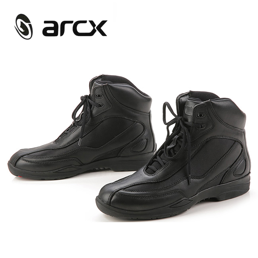 ARCX Motorcycle Riding Shoes Genuine Cow Leather Street Moto Road Racing Motorbike Chopper Cruiser Touring Biker Ankle Boots new scoyco moto racing leather boots motorcycle boots shoes motorbike riding sport road speed professional botas