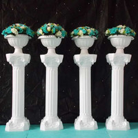 Free Shipping 39 Inch Roman Road Lead Rome Plastic Column Style With Flower And Flower Pot
