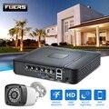 FUERS 4.0MP 4CH 5в1 AHD DVR CCTV система безопасности 1520P Водонепроницаемая камера CCTV видео HDMI с 1 ТБ 2 ТБ HDD DIY Набор