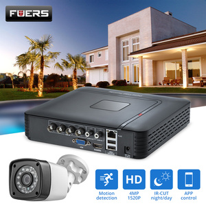 Image 1 - FUERS 4.0MP 4CH 5in1 AHD DVR Surveillance  CCTV Security System 1520P Waterproof Camera CCTV Video HDMI With 1TB 2TB HDD DIY Set