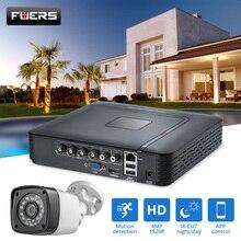 FUERS 4.0MP 4CH 5in1 AHD DVR gözetim CCTV güvenlik sistemi 1520P su geçirmez kamera CCTV Video HDMI ile 1TB 2TB HDD DIY Set