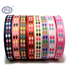 HL 1(25mm) 5 Meters/lot Printed Square Grosgrain Ribbons Wedding Party Decorative Gift Wrapping DIY Chilren Hair Accessories 6yards lot mix printed trim geometric ribbons diy wrapping wedding party hair bow decoration art sewing accessories 040054006