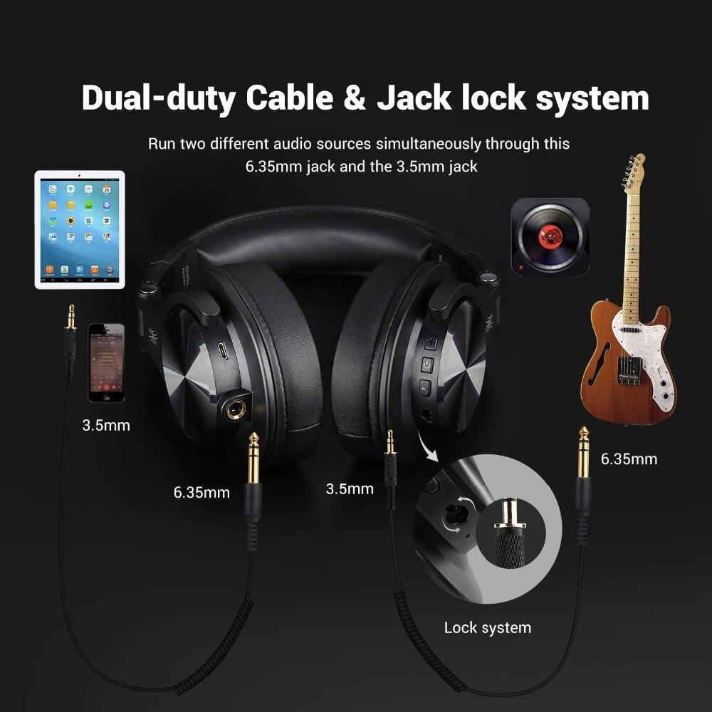 Casque d'écoute Bluetooth Fusion OneOdio, casque d'enregistrement Studio avec port partagé, moniteur professionnel filaire/sans fil - 2