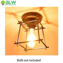 GLW Iron Art Black Hallway Loft Industrial Retro Home Aisle Lights Wall Lamp Cage Vintage Sconce Indoor Corridor Lighting(China)