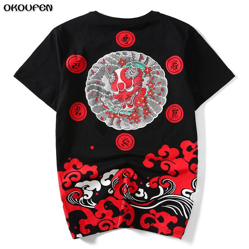 D'été De Mode Hommes t-shirt Fantôme Chanceux Petit Diable Imprimer Coton Hip Hop Baseball Jersey T-shirt Hommes taille M-4XL TXS83