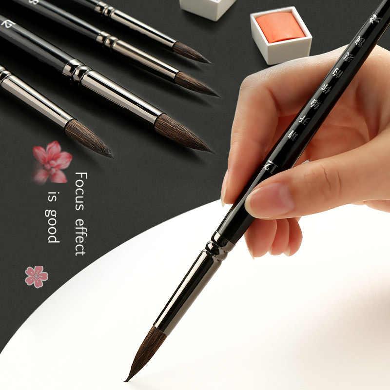 3/4/7 bâton animal cheveux aquarelle stylo ensemble peint à la main acrylique gouache peinture à l'huile crochet ligne stylo courte tige art fournitures