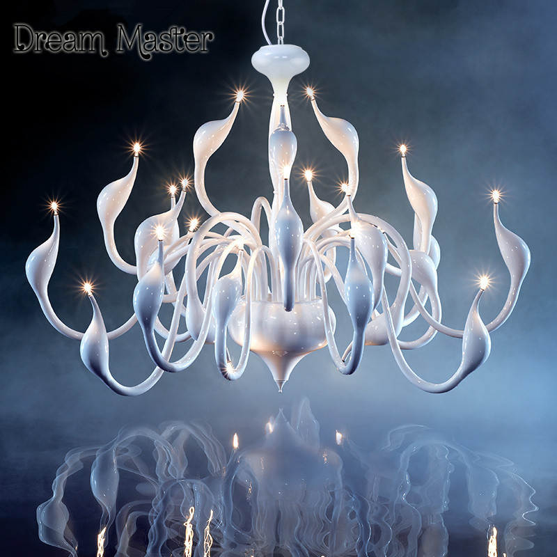 2017 Deco European Candle Crystal LED Swan Chandeliers Ceiling Bedroom Living Room Modern Decoration G4 Lighting Free Shipping crystal candle lamps modern crystal chandelier living room hanging lighting bedroom ceiling restaurant led chandeliers